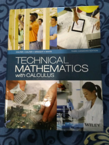 Technical mathematics with calculus 3rd canadian edition