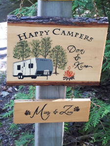 Campers & Cottager Signs
