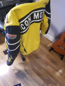 Icon motorcycle leather jacket L