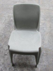 7 Heavy duty stackable plastic chairs