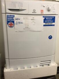 NEW Indesit white Condenser tumble dryer 8kg