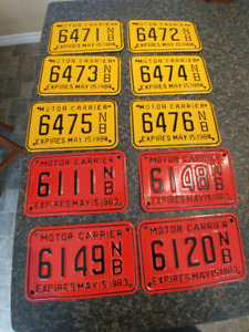 Antique NB license plates, never used.