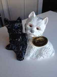 Collectible Black & White Scottie Decanter