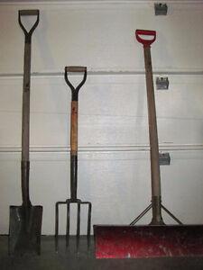 LOT of Garden tools & snow shovel