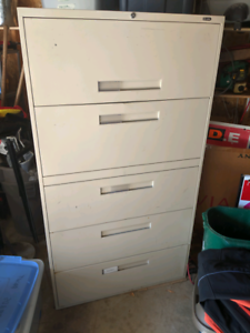 Large metal filing cabinet
