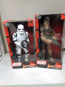 "Star Wars Disney 12"" & 15"" Talking Stormtrooper and Chewbacca"