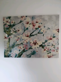 Hand Painted Blossom Canvas Art.