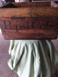 WOODEN PEPSI COLA CRATE