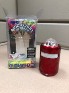 Disco Bluetooth speaker and FM radio