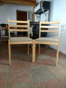 2 Solid Maple all purpose chairs...
