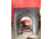 Edwardian antique cast iron fireplace