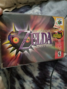 Complete in box, legend of zelda majoras mask