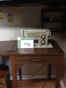 Electric sewing table and material/ thread case