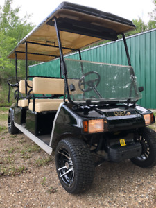 Four Seat Gas Golf Cart with Storage Shed