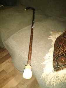 Vintage German made cane with badges London Ontario image 1