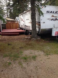Holiday trailer at Candle Lake (Mariner's Cove)