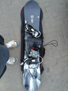 Snowboard with boots, bindings and bag 100$ or best offer.