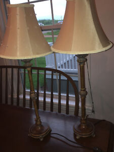 2 end table lamps