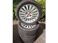 "Fiat abarth 15""alloy wheels &tyres"