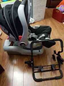 Graco Snug ride carseat + adapter for baby jogger stroller