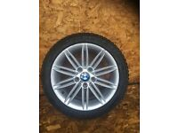 "BMW 1 SERIES E8X ""17"" M SPORT REAR ALLOY AND TYRE"