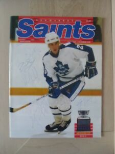 1988-89-NEWMARKET SAINTS-Autographed Official Magazine.