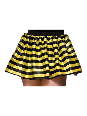 Bumble Bee Tutu (Adult Bumble Bee Tutu Skirt 80's Fancy Dress Hen Party Fun Run 1980s Accessories)