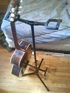 Support double pour guitare
