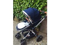 Mothercare Orb Deluxe Pram, Pushchair, Buggy with car seat adapters