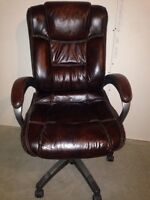Brown leather office/computer chair $100 OBO