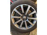 GENUINE AUDI Q7 ALLOYS 4M 20-inch Alloy Wheels Summer Tyres Rims Summer wheels
