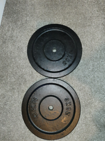 """2x 20kg 1"""" cast iron DKN weight plates £120 No offers"""