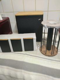 Next Black Embossed Kitchen Set