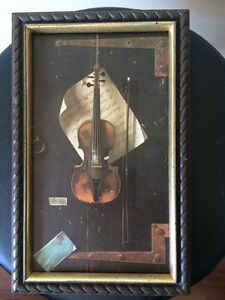 THE OLD VIOLIN PRINT & FRAME