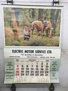 Huge Vintage Calendar with Horse Photo Regina Regina Area image 1