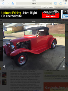 1931 ford roadster hot rod rag top convertible