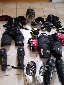 Full Goalie outfit and 2 sets of hokey gear