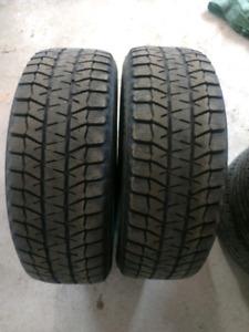 2 pneus hiver Bridgestone blizzak ws80 245/60r18