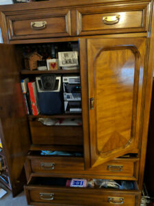 Vintage armoire. Great style, perfect for storage.