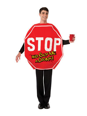 Stop Sign Buy Me A Drink Stag Mascot Fancy Dress Costume Party Funny Outfit New