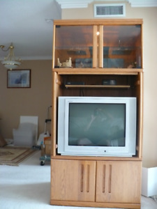 TV wall unit and RCA TV