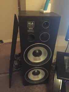 KLA speakers and Kenwood amp