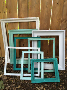 lot of rustic frames wedding and home decor
