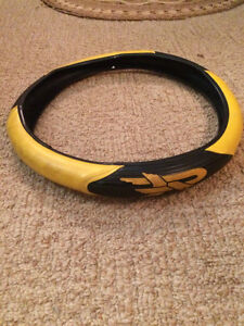 Yellow mustang leather steering wheel cover Windsor Region Ontario image 1