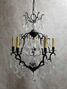 GORGEOUS 5-Light Crystal Chandelier – A MUST SEE!!