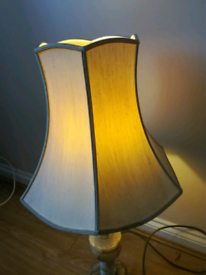 A vintage marble table lamp