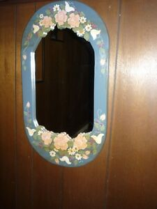 Pretty Tole Painted Mirror