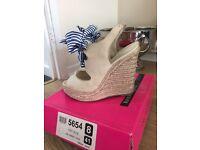 River island wedge high heels size 8