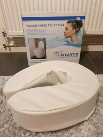Padded raised toilet seat brand new in box