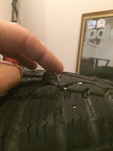 Winter tires on 4 bolt steelies Cambridge Kitchener Area image 4